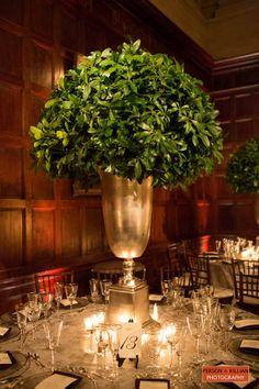 Tall leafy centerpiece