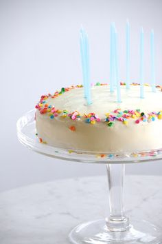 made a confetti cake from scratch this year for chris' birthday (his favorite kind of cake! Great Desserts, Delicious Desserts, Yummy Treats, Sweet Treats, Confetti Cake, Sweet Breakfast, Dessert Drinks, Love Cake, Homemade Cakes