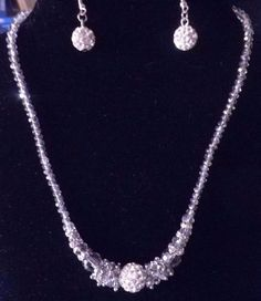 Liquidation Lot 5 Gifts! Sparkling Faceted Crystal Necklaces,Earrings,Stainless #Unbranded #Cluster