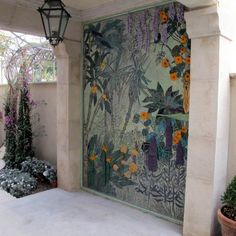 """Off the Cuff"" with Ceramic Mosiac Artist, Jane du Rand Mosaic Artwork, Mosaic Wall, Mosaic Tiles, Stone Mosaic, Mosaic Glass, Glass Art, Stained Glass, Mosaic Flowers, Glass Garden"