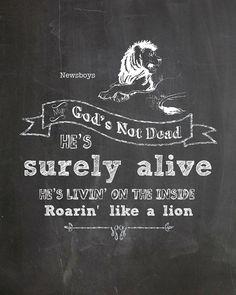 God's Not Dead Chalkboard Art by AltusPhotoDesign on Etsy, $3.00