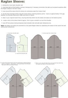 Introduction to Pattern Cutting: Raglan Sleeve   House of Jo