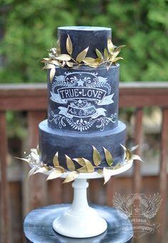 Chalkboard Wedding Cakes, take this theme through to your wedding stationary, Bespoke by www.ivywhite.co.uk