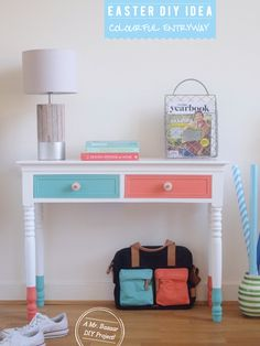 Entryway Makeover: Dipped Furniture Legs DIY – Bright.Bazaar