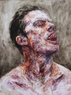 Contempt of Mind VII by Louie Van Patten Oil Stick on Panel