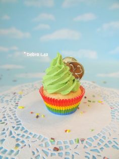 Fake Cupcake St. Patrick's Day Rainbow Green Gold Coins Leprechaun Kitchen Decor Display Decoration - Imagine Out Loud