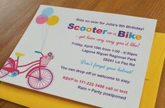 Girl Bike and Scooter party / Outdoors by ClaudiaCurtiDesigns