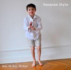 Boy, Oh Boy, Oh Boy!: Sew In Tune: Gangnam Style shirt tutorial