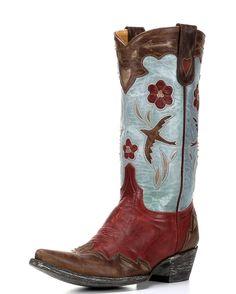 Women's Golondrina Boot - Red/Brass/Bone