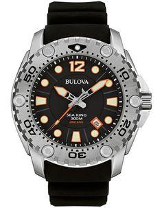 Bulova Mens Sea King UHF Professional Dive Watch - Black - 300M WR