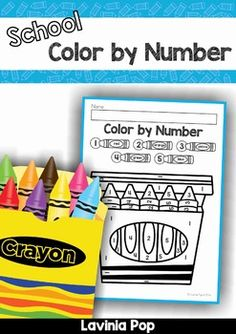 FREE Back to School Color by Number worksheets