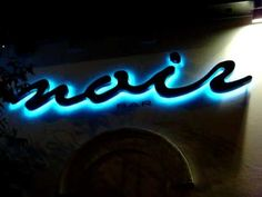 Night Club LED signage with colour change