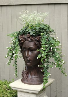 Head planter-maybe on my marble columns?