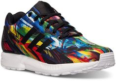 cfa4eafe2002f adidas Men s Zx Flux Print Running Sneakers from Finish Line Retro  Sneakers