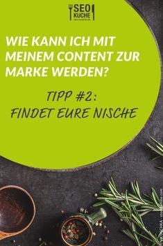 Unser Tipp #2 zur Frage wie der eigene Content zur Marke werden kann: Findet eine Nische und baut dort euer Kompetenzen aus. Fokussiert und spezialisiert euch auf diesen Themenbereich.  #ContentMarketing #OnlineMarketing #seoküche Affiliate Marketing, E-mail Marketing, Content Marketing, Ecommerce, Online Shopping, Branding, Graphic Design, Enorm, Google