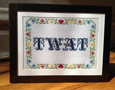 Twat Cross Stitch
