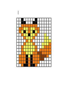 fox knitting or cross stitch pattern Intarsia Knitting, Knitting Charts, Loom Knitting, Knitting Stitches, Knitting Patterns, Perler Patterns, Loom Patterns, Beading Patterns, Fox Pattern