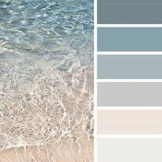 Crystal clear (design seeds) diy home decor цвета дома, квар Beach Color Schemes, Beach Color Palettes, Colour Schemes, Interior Design Color Schemes, Color Combinations, Beach Cottage Kitchens, Beach Cottage Style, Beach Cottage Decor, Beach Kitchen Decor
