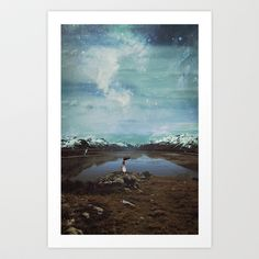 Wandering Satellite  Art Print by  Maʁϟ And The Moon - $18.72
