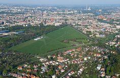 Krakowskie Błonia z lotu ptaka