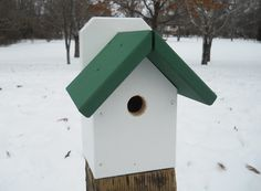 Painted Birdhouse  Nuthatch Blackcapped by BirdhousesFromTheVal, $15.00
