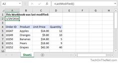 59 best microsoft excel images on pinterest microsoft excel ms this excel tutorial explains how to write a macro that returns the last modified date for the wookbook and displays that date value in a cell with ibookread ePUb