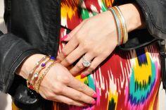 Bangle sets worn by Jen
