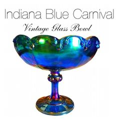"""Blue Carnival Candy Bowl"" by abatevintage on Polyvore featuring interior, interiors, interior design, home, home decor, interior decorating and vintage"
