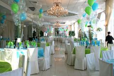 Beach theme Bat Mitzvah by partieswithattitude.com