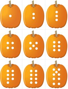 Pumpkin Concentration - Number Dots | Fuel the Brain Printables