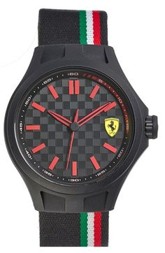 Scuderia Ferrari 'Pit Crew' Silicone Strap Watch, 45mm available at #Nordstrom