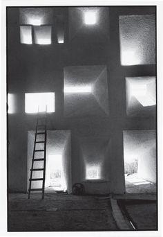 Le Corbusier, Shell of the Notre Dame du Haut Chapel (1955) Ronchamp. Photography René Burri