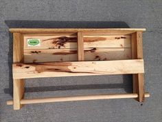 Double Towel Rack Made From Pallets  ---  #pallets  #palletprojects  #bathroom