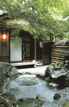 The Most Elegant Japanese Bathroom Ideas A few of us are showering, as well as some are bathing. Japanese Garden Style, Japanese Garden Landscape, Japanese House, Japanese Spa, Japanese Gardens, Bathroom Styling, Bathroom Interior Design, Bathroom Ideas, Garden Bathroom