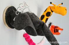 Ten June: DIY Felt Stuffed Animal Head Wall Art Tutorial