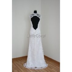 MS13(f)-lace overlay wedding dress, bridal gown [MS13(f)] : LittleCoral.com