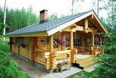 Log Cabin Kit Homes: Kozy Cabin Kits! really big idea for part time living in Alaska (summer's only. Tiny Cabins, Tiny House Cabin, Cabins And Cottages, Log Cabins, Amish Cabins, Cabins In The Woods, House In The Woods, Treehouse Masters, Cabin Plans