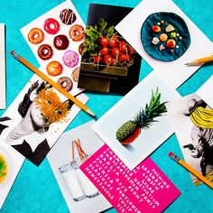 108 fun food-themed cards to send to your friends and family.