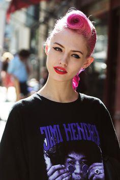 Pink quiff