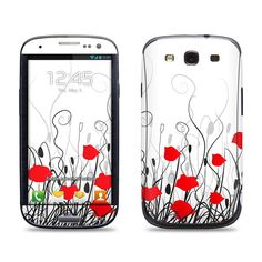 Samsung Galaxy S3 Phone Case Cover Decal - Poppies