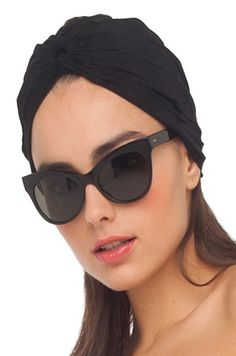 The turban - such a chic, iconic Norma Kamali signature piece!