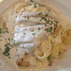 ------------------------------- Creamy Alfredo sauce is spooned over tender pasta and topped with seasoned grilled chicken. It's an easy, quick meal that everyone will love. Grilled Chicken Alfredo That beats Olive Garden prep time 5 mins cook time 15 mins total time 20 mins Serves: 6 servings INGREDIENTS 1½ pounds seasoned and grilled chicken breasts, sliced 24 ounces dry fettuccine or pasta of choice ⅓ cup butter 1¼ cups heavy cream 1 tablespoon cream cheese 1½ cups freshly grated…