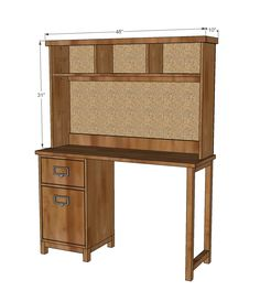 Ana White | Build a Schoolhouse Desk Hutch | Free and Easy DIY Project and Furniture Plans