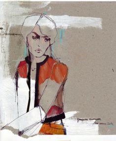 Image detail for -FASHION/ART* BUKANOVA – FASHION ILLUSTRATIONS