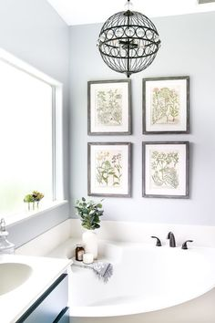 Lowe's Spring Makeover Bathroom Reveal | blesserhouse.com - A team of 6 DIYers take on a bathroom makeover in 48 hours to transform a plain, builder grade space to give it character and modern farmhouse charm. #bathroom #modernfarmhouse