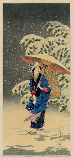 """Snow At Twilight"" by Shotei, Takahashi"