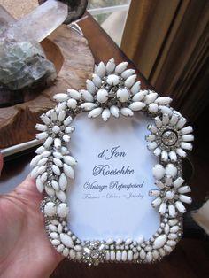 Vintage Milk Glass Rhinestone Jewelry Picture by dJonVintageDesign