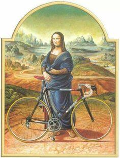 Mona cycliste.