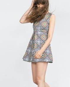 ZARA - COLLECTION AW15 - PRINTED DRESS