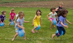jocs amb globus, cursa de sacs, tirar la pilota, cursa de culleres, habilitats...